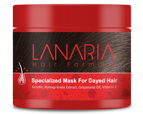ماسک موهای رنگ شده لاناریا (فرمول شده توسط دکتر نوروزیان)